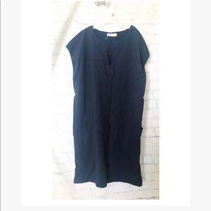 Mod Ref • blue v neck shift dress